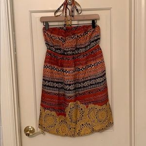 Anthropologie halter dress